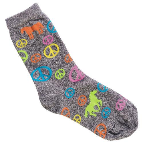 GT Reid Adult Socks - Peace Sign