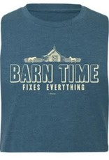 "Stirrups Adult Stirrups ""Barn Time Fixes Everything"" Short Sleeve T-Shirt, Heather Teal"