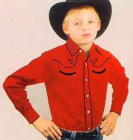 WEX Children's Western Shirt - Red Retro