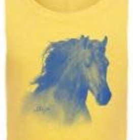 Stirrups Children's Stirrups Horse Head Fitted Short Sleeve T-Shirt, Banana Cream