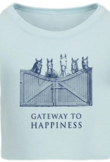 """Stirrups Children's Stirrups """"Gateway to Happiness"""" Fitted T-Shirt, Ice Blue"""