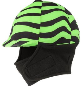 Tough-1 Lycra Helmet Cover with Fleece Neck and Ear Warmers in Prints