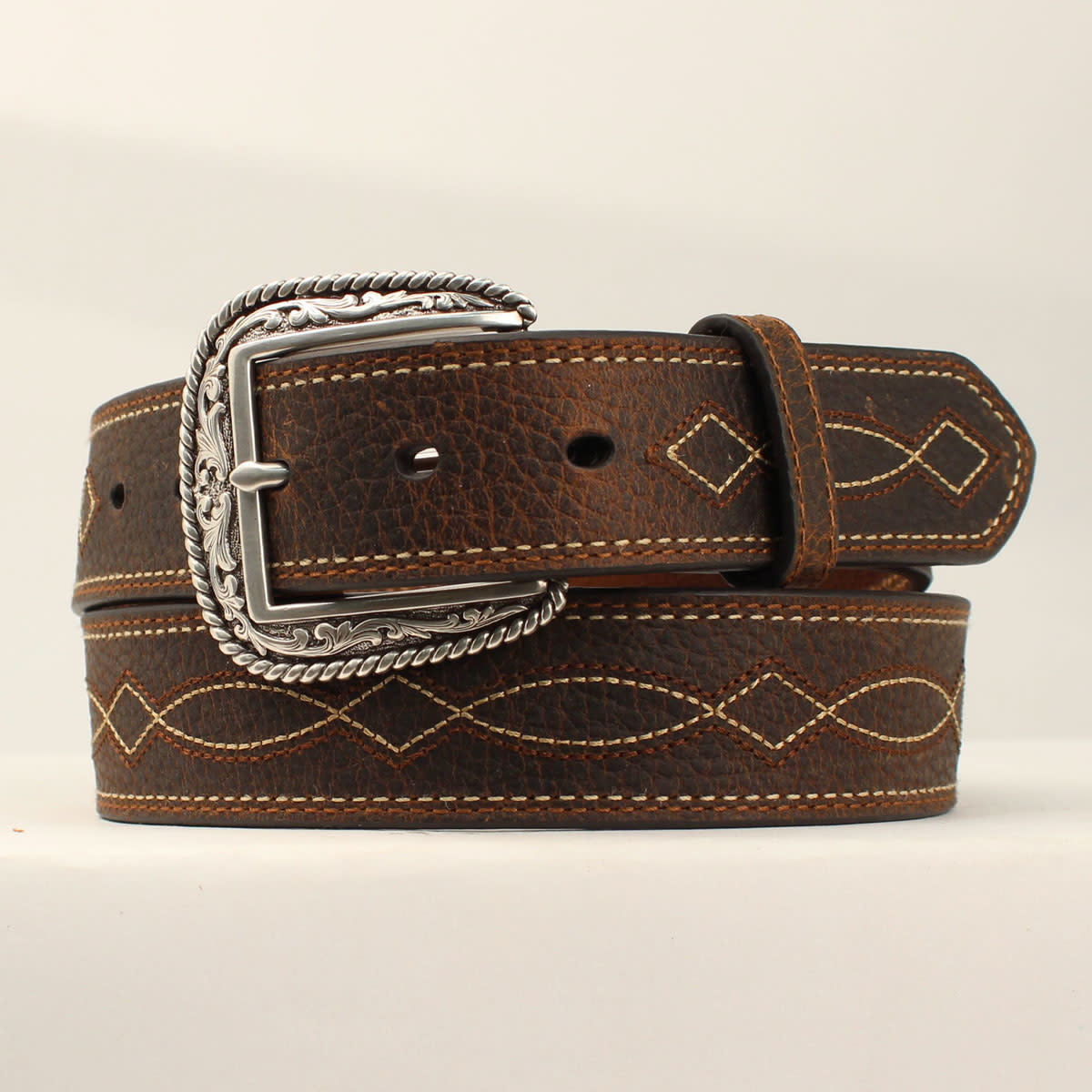 Adult - Boot-Stitch Leather Belt