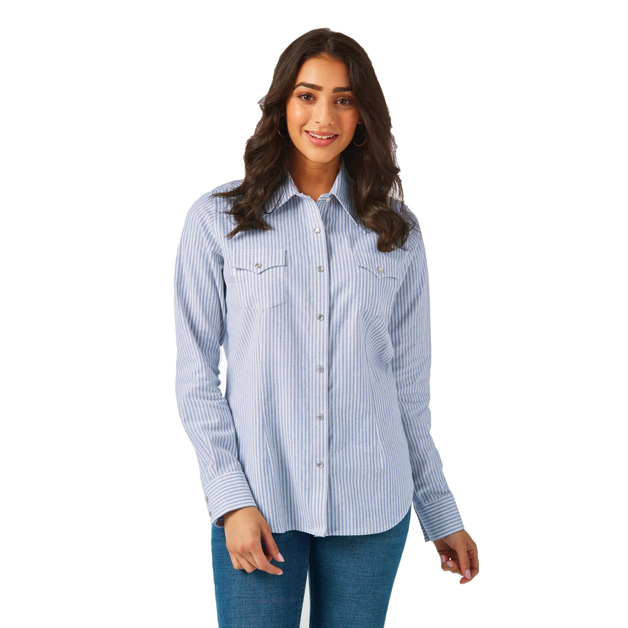 Wrangler Women's Wrangler Blue/White Stripe Western Shirt