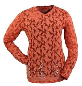 Outback Women's Outback Lilly Studded Long Sleeve T-Shirt, Orange - Reg $44.00 NOW $25!