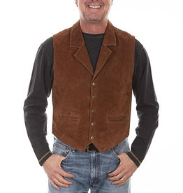 Scully Leather Men's Scully Boar Suede Vest - Cinnamon