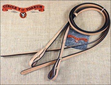 "Circle Y Circle Y Leather Split Reins, Quick Change, Ultra Light - 5/8""x7'"