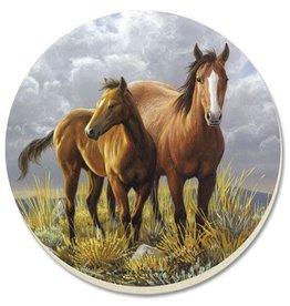 GT Reid Absorbent Coaster Set 2 horses 4