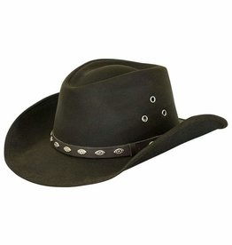 Outback Badlands Oilskin Hat - Brown
