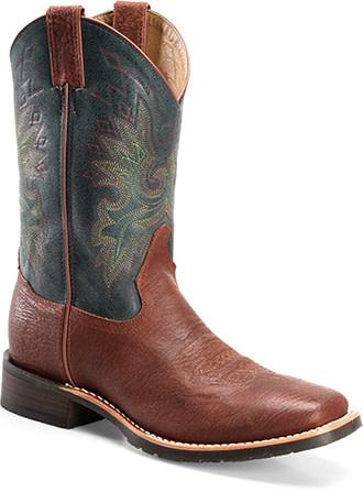 Double-H Boots Men's Double-H Teal/Blue Arizona Western Boots (Reg $169.95 - 20% Disc)