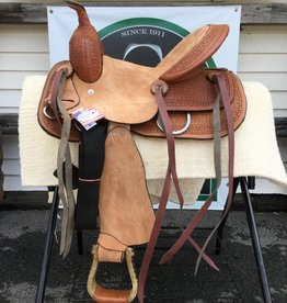 "12"" FQHB Wild Star Trail Saddle, Roughout Hard Seat - (Reg $549.95 now $154 OFF!!)"