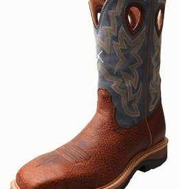 Twisted X Men's Twisted X Lite Cowboy Workboot, Distressed/Navy, Soft Toe