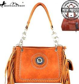 Handbag - Leather Laced Satchel