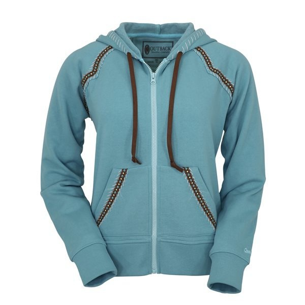 Outback Outback Maya Dusty Blue Hoodie - Small (Reg $56.95 now 30% OFF)