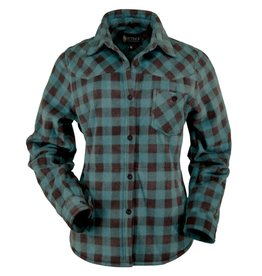 Outback Ladies Fleece Big Shirt - Turquoise