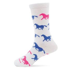 GT Reid Children's Horse Wave Sock - Pink/Blue