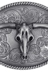WEX Belt Buckle - Steer Skull