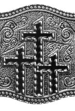 WEX Belt Buckle - Three Black Crosses