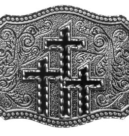 WEX Belt Buckle - Three Black Crosses
