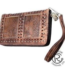 Wallet - Clutch/Wristlet w/ Embossed Leather