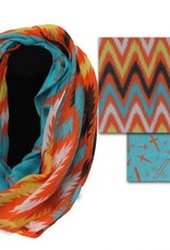 Scarf - Chevron Crosses