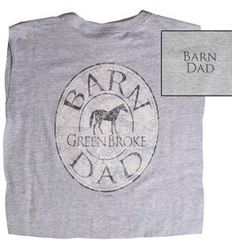 Stirrups Stirrups Barn Dad T-Shirt