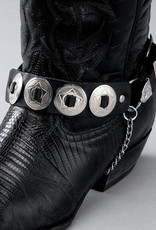 WEX Boot Chains - Leather - Round Conchos
