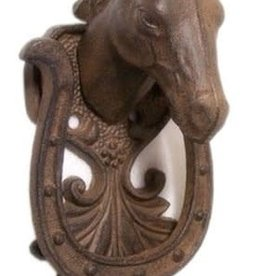 Lamprey Cast Iron Horse Head Door Knocker