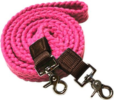 Showman Cotton Braided Roping Reins w/Snaps