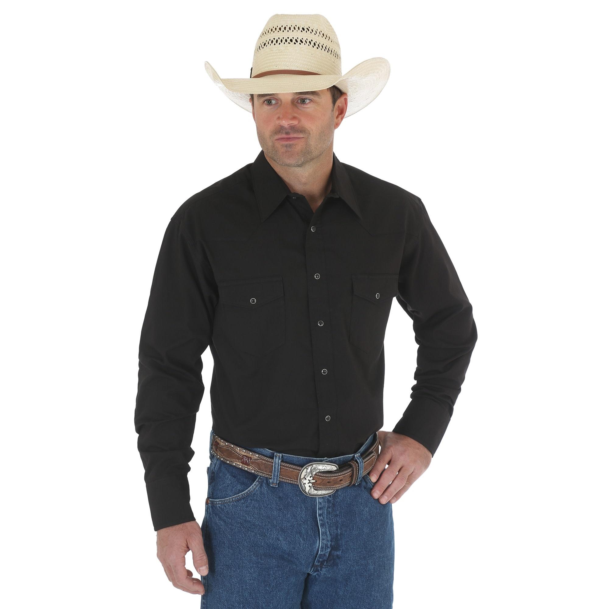 Wrangler Wrangler Sport Western Snap Shirt - Black