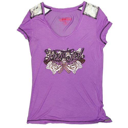 Farm Girl Women's Farm Girl w/Roses & Pistols T-Shirt (Reg $24.95 now 50% OFF!)