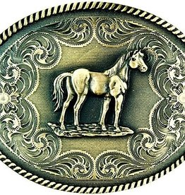 Western Fashion Accessories Belt Buckle - Standing Horse