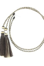 M & F Western Products Natural Horsehair Stampede String with Ball Accents