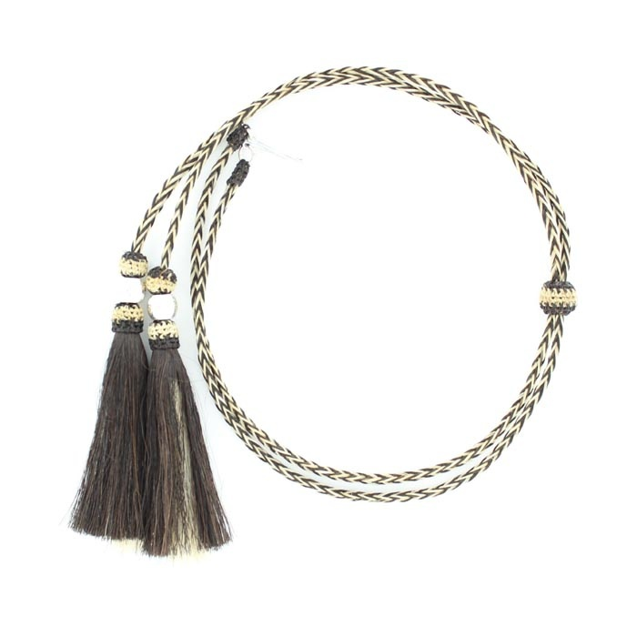 Natural Horsehair Stampede String with Ball Accents