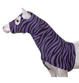 Tough-1 Lycra Mane Saver Purple Zebra Mini