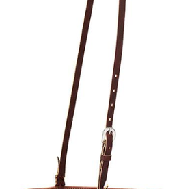 Weaver Old West Noseband, Canyon Rose Leather Tie Down Noseband