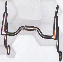 Reinsman Curb - Reinsman Duke Roper Sweet Iron Wide Ported Barrel. Stainless Steel Cheeks