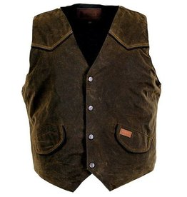 Outback Men's Outback Cliffdweller Oilskin Vest w/Fleece Lining - Bronze