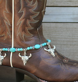 Boot Candy Boot Bracelet Turquoise South Western Skull