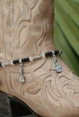 Boot Candy Boot Bracelet Guitars & Black Beads