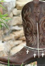 Boot Candy Boot Bracelet Howlite Crosses