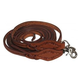Showman Showman Leather Split Reins - Barbwire Tooled