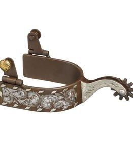 Tough-1 Antique Brown Engraved Buckstitch Spurs