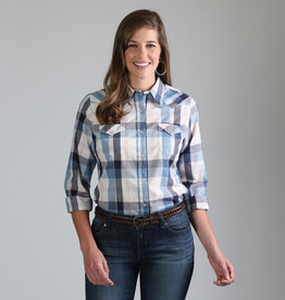 Wrangler Women's Wrangler Blue/Grey Plaid Shirt