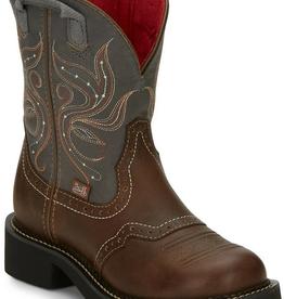 Justin Western Women's Justin Elmer Tan Western Boots