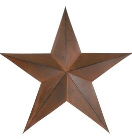 "Tough-1 Home Decor Star - 24"" Rust"