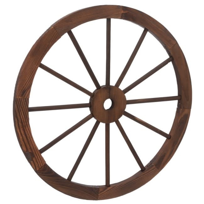 Tough-1 Decorative Wagon Wheel - 23 3/4""