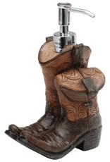Giftcraft Inc. Cowboy Boots Soap Dispenser