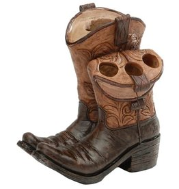 Giftcraft Inc. Cowboy Boots Toothbrush and Toothpaste Holder