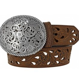 Tony Lama Belts Adult - Tony Lama Pierced Filigree Trophy Belt